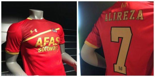 AZ Alkmaar 2017 2018 Under Armour Home Football Kit, Shirt, Soccer Jersey, Wedstrijdshirt Thuis, Thuisshirt
