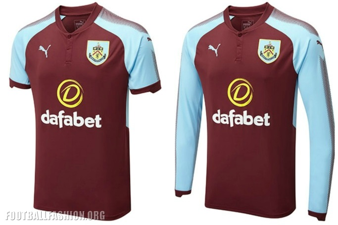 Burnley FC 2017/18 PUMA Home Kit - FOOTBALL FASHION.ORG