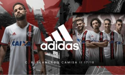 CR Flamengo 2017 2018 adidas Away Football Kit, Soccer Jersey, Shirt, Camisa, Camiseta