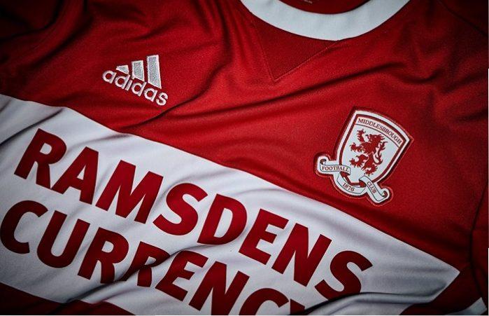 buy online e2ef0 3ae7e Middlesbrough FC 201718 adidas Home Kit – FOOTBALL FASHION.O
