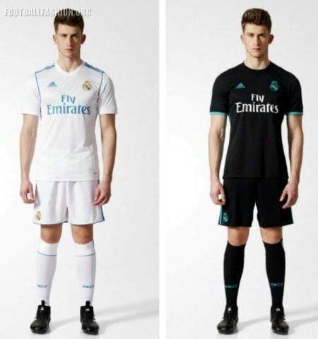Real Madrid 2017 2018 adidas Home and Away Football Kit, Soccer Jersey, Shirt, Camiseta, Camisa, Equipacion, Maillot, Trikot, Tenue, Camisola, Dres