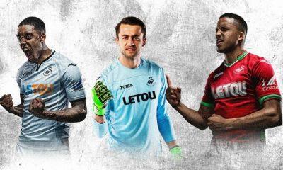 Swansea City 2017 2018 Joma Home and Away Football Kit, Soccer Jersey, Shirt, Maillot, Camiseta, Camisa, Trikot