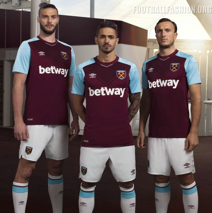 West Ham United 2017/18 Umbro Home Kit – FOOTBALL FASHION.ORG