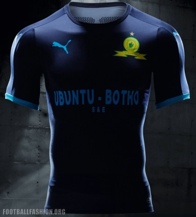 Mamelodi Sundowns PUMA 2017 2018 Third STEP OUT Football Kit, Soccer Jersey, Shirt