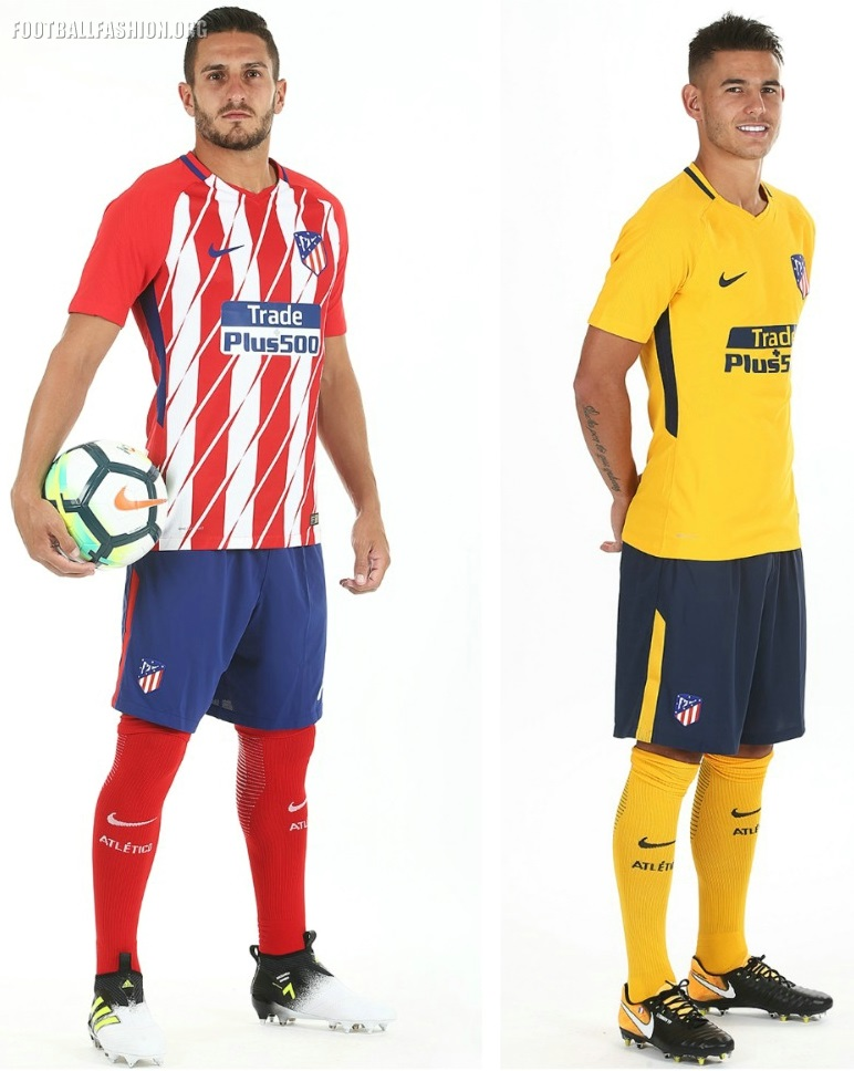 1dcc40a93 Atlético Madrid 2017 2018 Nike Home and Away Football Kit, Soccer Jersey,  Shirt,