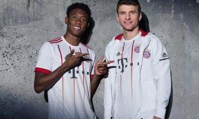 Bayern Munich 2017 2018 adidas White Third Football Kit, Soccer Jersey, Shirt, Trikot, Maillot, Tenue, Camisa, Camiseta, München