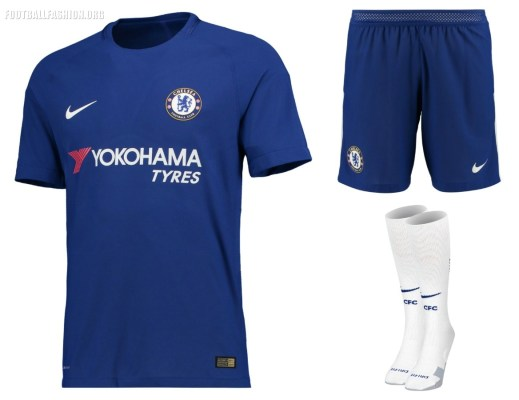 Chelsea FC 2017 2018 Nike Home and Away Football Kit, Soccer Jersey, Shirt, Camiseta de Futbol, Camisa, Maillot, Trikot, Tenue, DresChelsea FC 2017 2018 Nike Home and Away Football Kit, Soccer Jersey, Shirt, Camiseta de Futbol, Camisa, Maillot, Trikot, Tenue, Dres