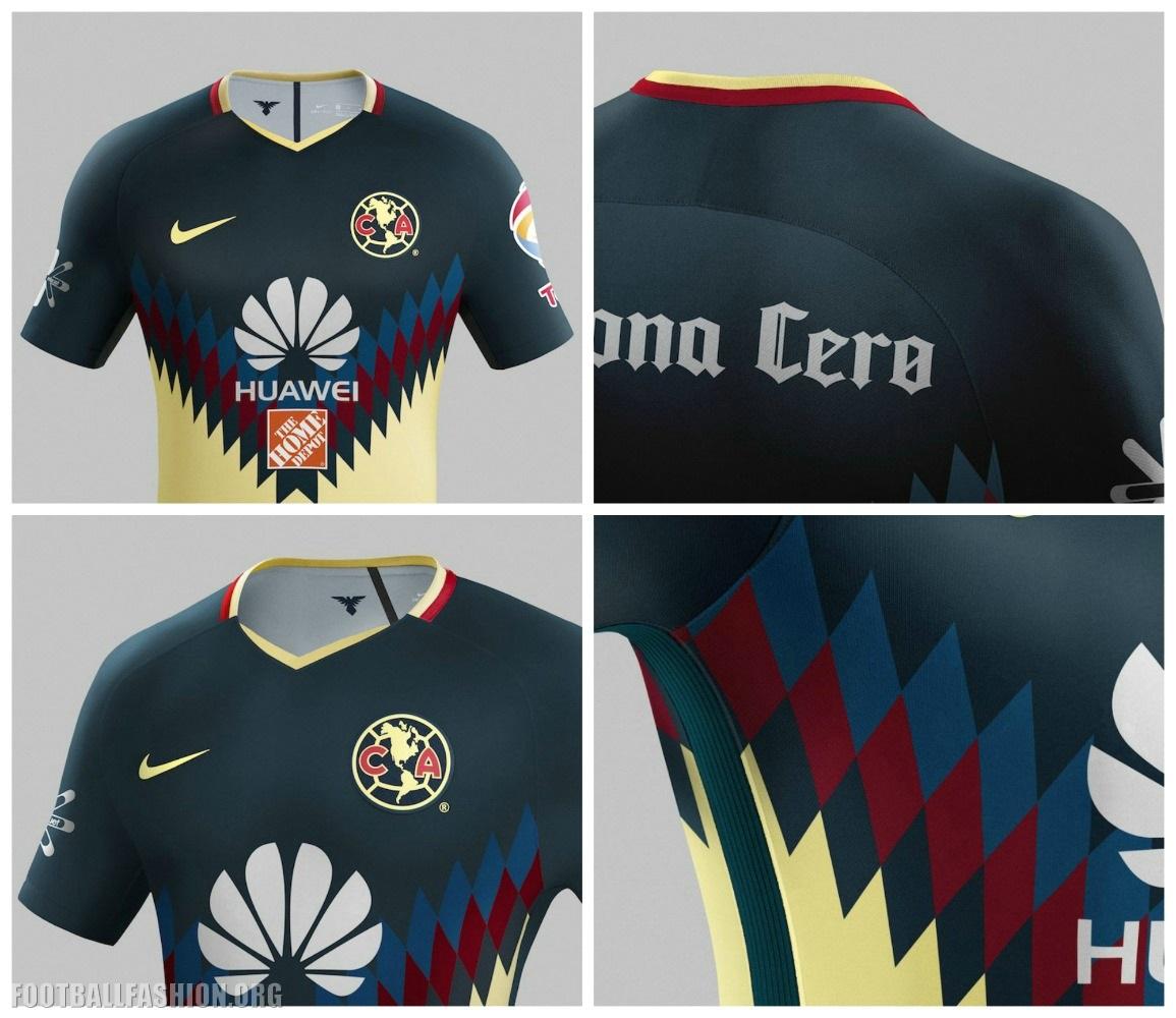 34f6e7ff3 Club América 2017 2018 Nike Home Soccer Jersey, Shirt, Football Kit,  Equipacion,