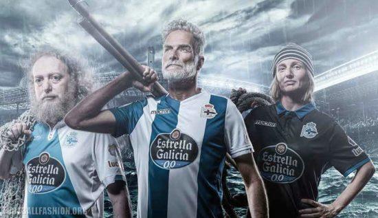 Deportivo de La Coruña 2017 2018 Macron Home, Away and Third Football Kit, Soccer Jersey, Shirt, Camiseta de Futbol, Equipacion
