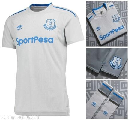 Everton FC 2017 2018 Umbro Away Football Kit, Soccer Jersey, Shirt, Camisa, Camiseta, Maillot. Trikot