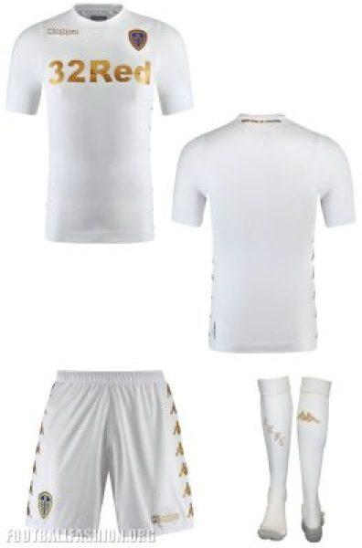 Leeds United 2017 2018 Kappa Home Football Kit, Soccer Jersey, Shirt