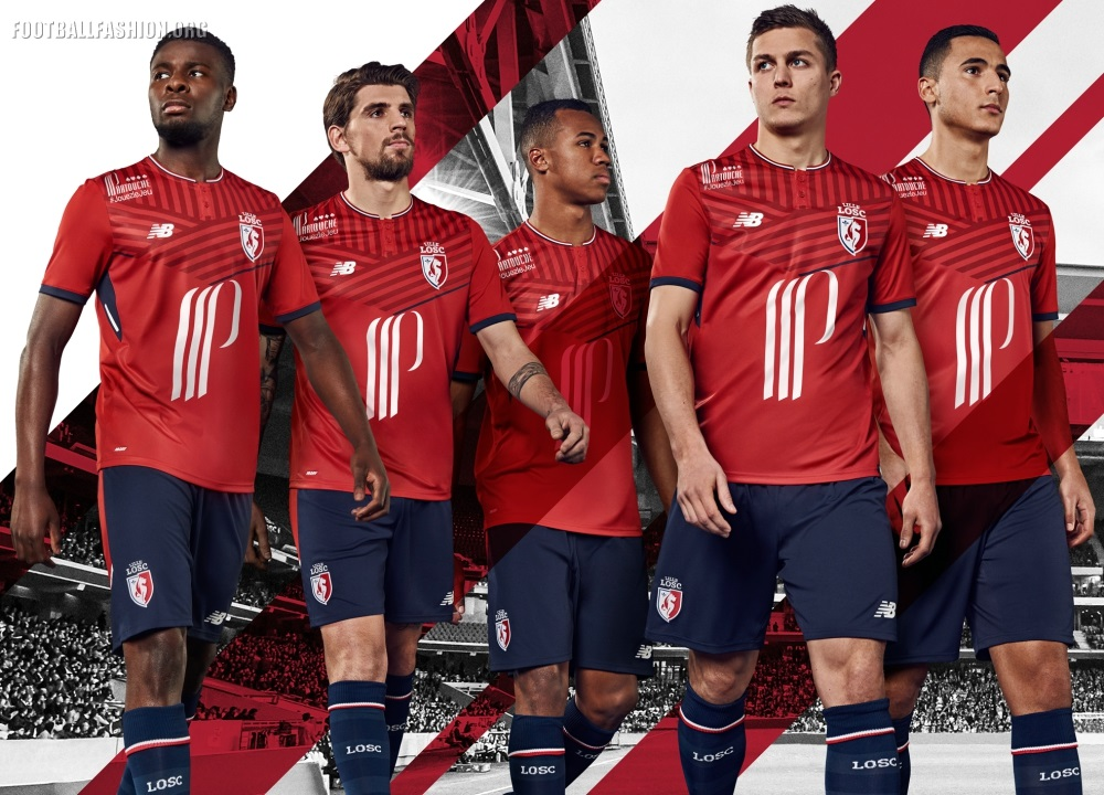 lille osc 2017 18 new balance home away and third kits football fashion org. Black Bedroom Furniture Sets. Home Design Ideas