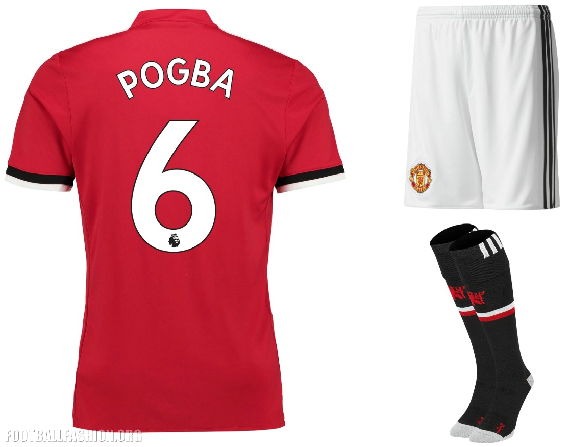 huge selection of 4207c ad393 Manchester United 2017/18 adidas Home Kit - FOOTBALL FASHION.ORG