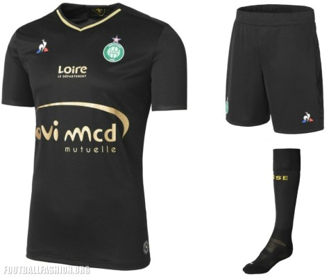 AS Saint-Étienne 2017 2018 le coq sportif Football Kit, Soccer Jersey, Shirt, Maillot