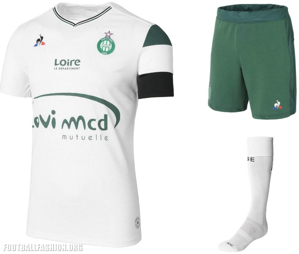 AS Saint-Étienne 2017/18 le coq sportif Kits - FOOTBALL FASHION ORG