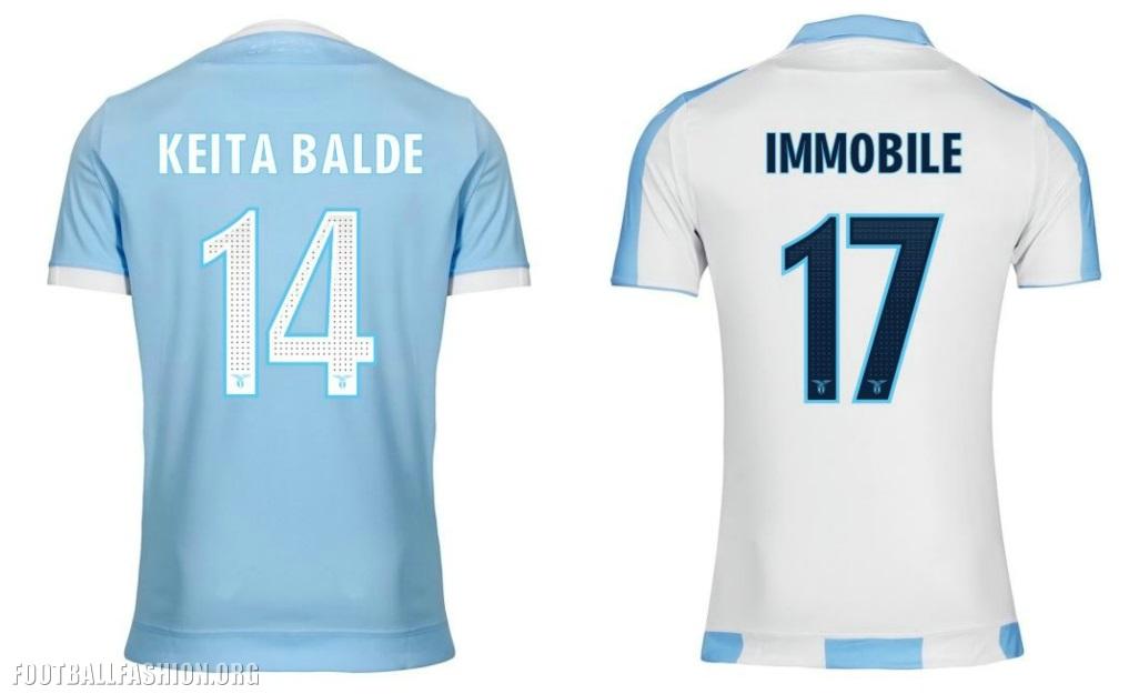SS Lazio 2017 18 Macron Home and Europa League Kits – FOOTBALL ... 583c8c9a9