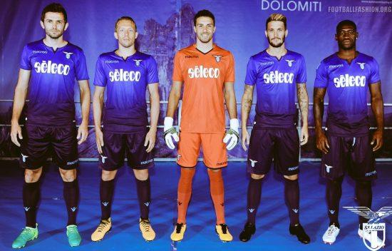 SS Lazio 2017 2018 Macron Blue Third Football Kit, Soccer Jersey, Shirt, Gara, Maglia, Camiseta, Camisa