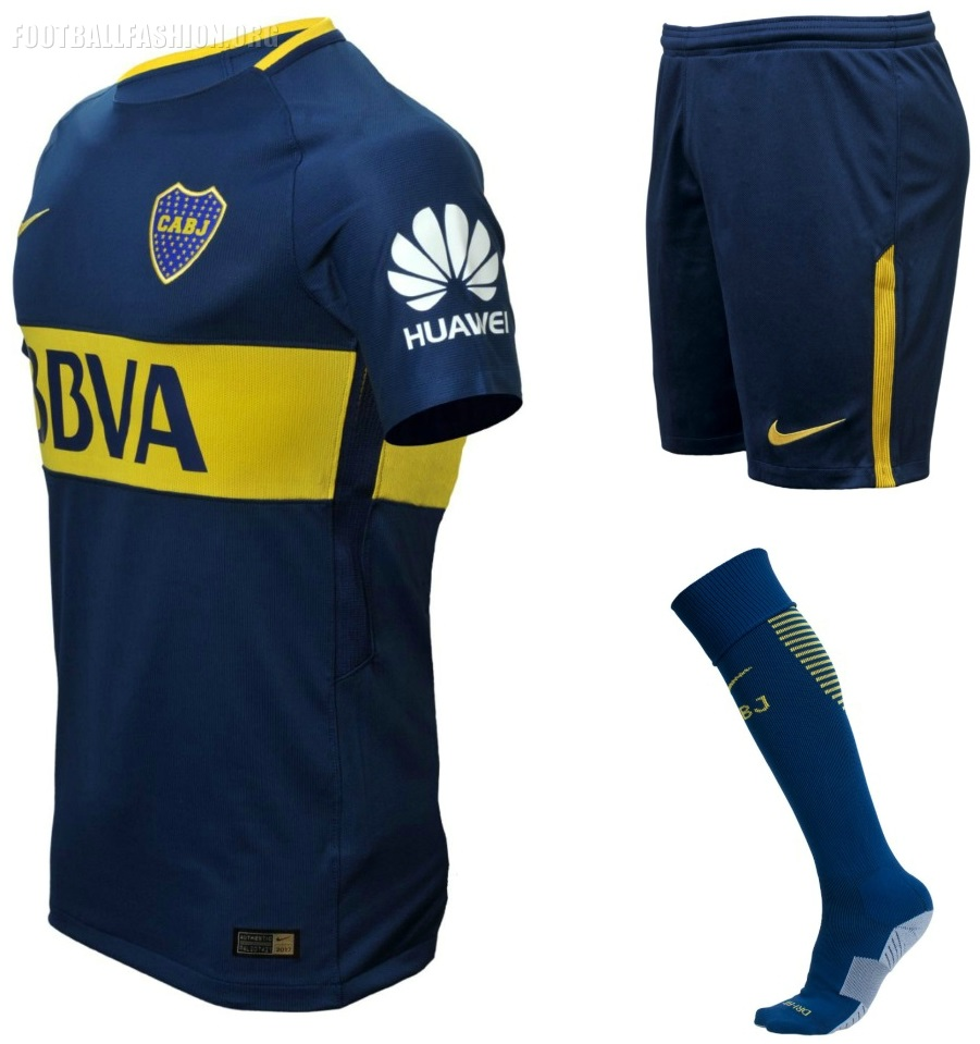 best authentic bb891 d135e Boca Juniors 2017/18 Nike Home and Away Kits - FOOTBALL ...