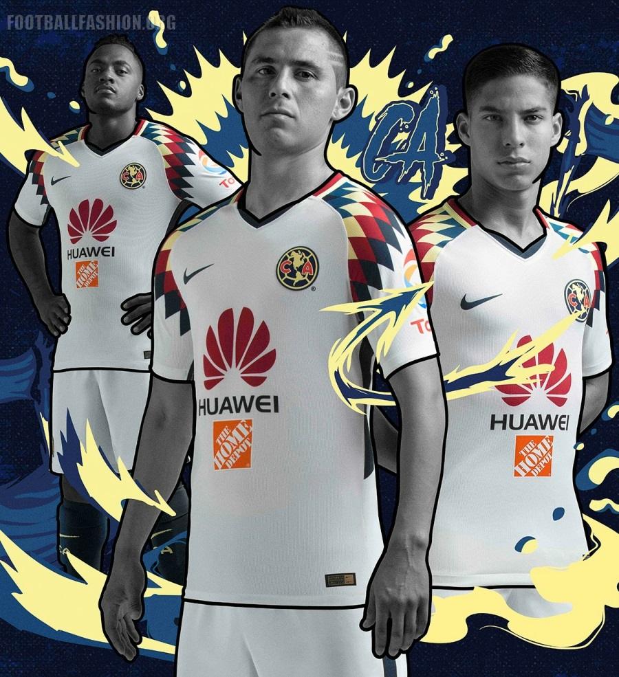 sale retailer 21139 2cffb Club América 2017/18 Nike Away Jersey - FOOTBALL FASHION.ORG