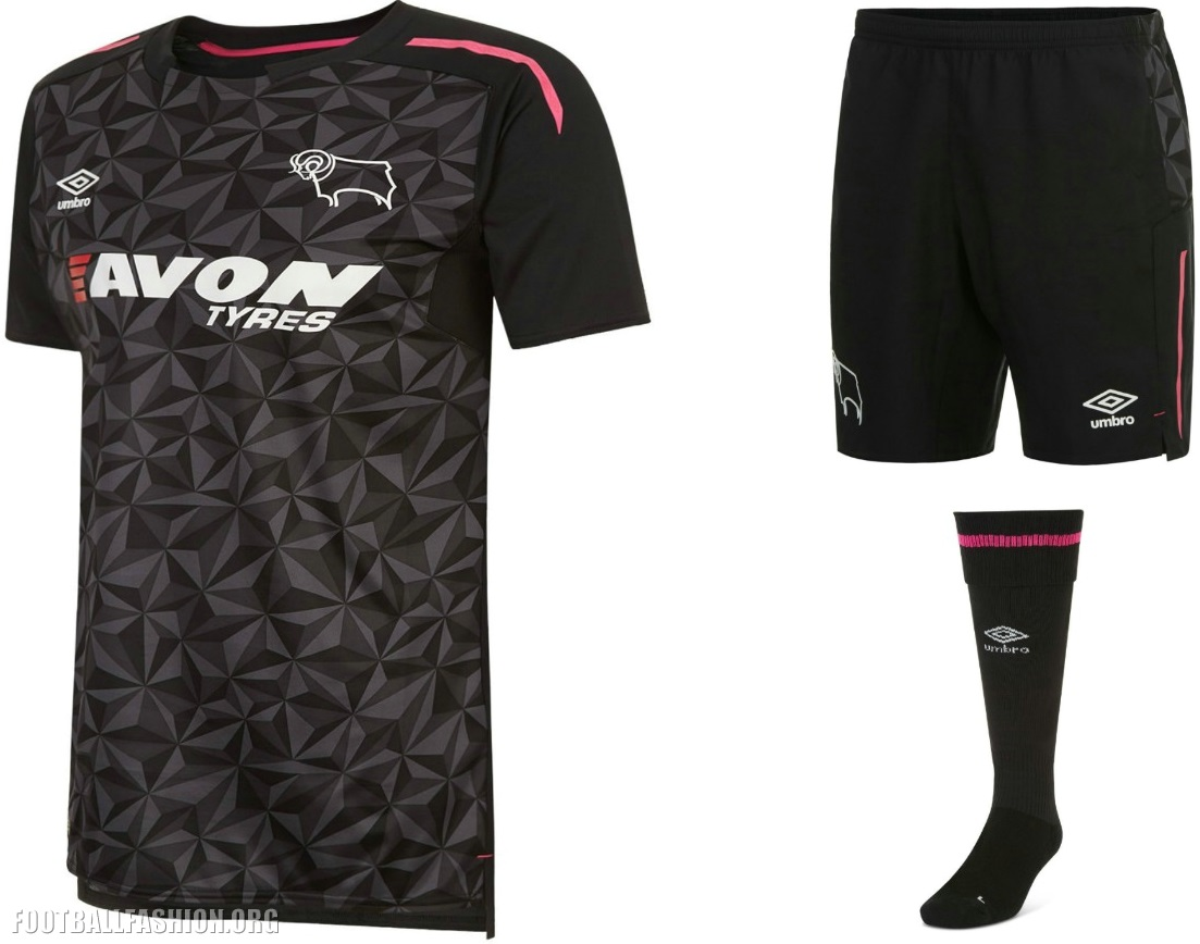 Derby County 2017/18 Umbro Home, Away and Third Kits ...