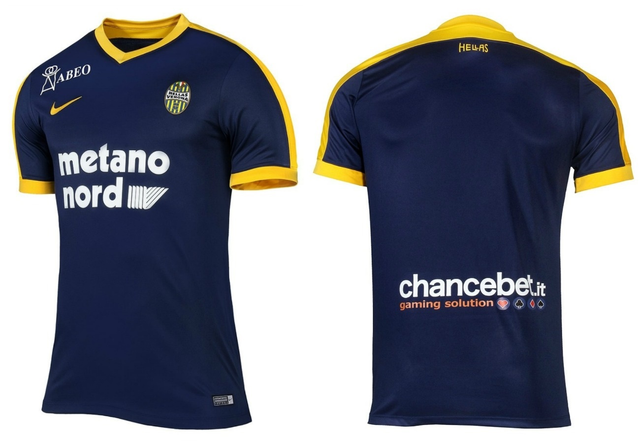 Hellas verona 2017 18 nike home away and third kits for Uniform verona