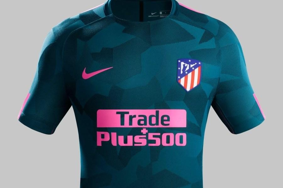 Atlético Madrid 2017 2018 Nike Third Football Kit, Soccer Jersey, Shirt, Camiseta de Futbol, Equipacion, Maillot, Trikot