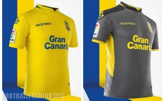 UD Las Palmas 2017 2018 Acerbis Home and Away Football Kit, Soccer Jersey, Shirt, Camiseta, Equipacion