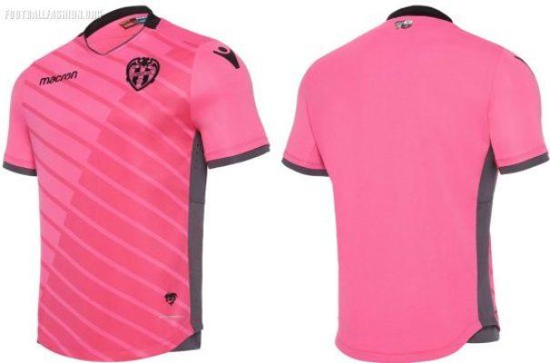 Levante UD 2017 2018 Macron Football Kit, Soccer Jersey, Shirt, Camiseta de Futbol, Equipacion