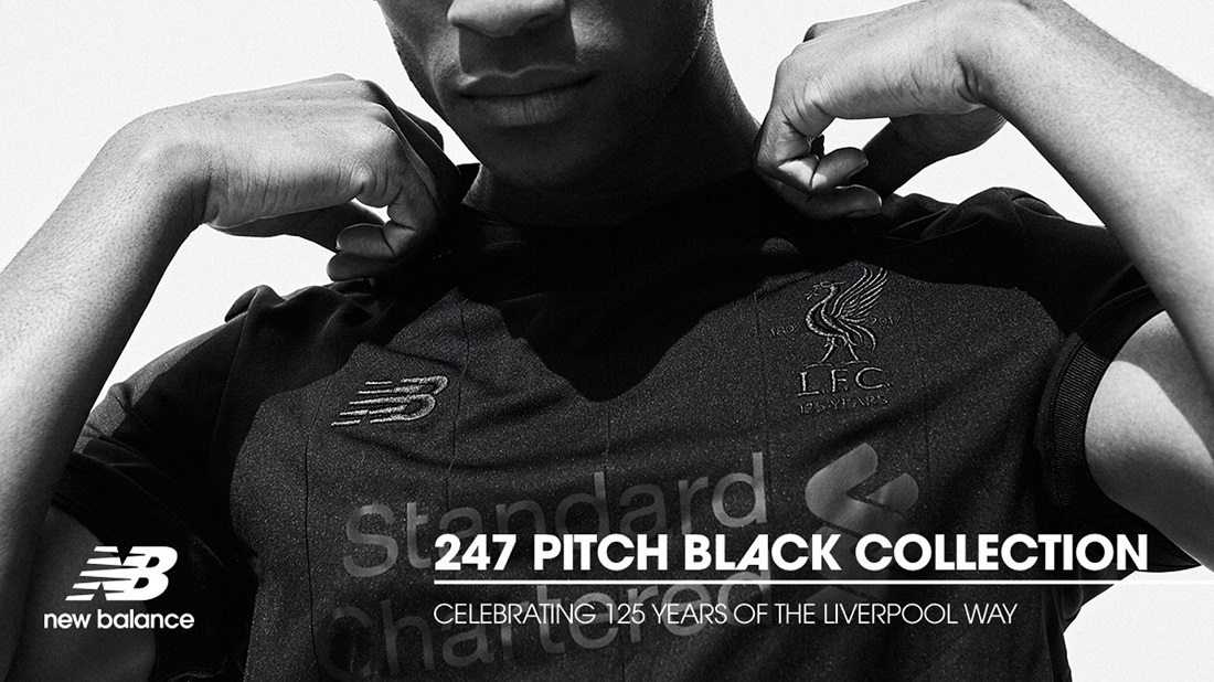 Liverpool FC 2017/18 New Balance Pitch Black Kit ...