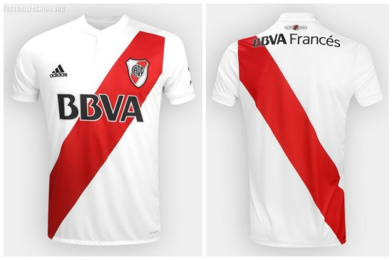 River Plate 2017 2018 adidas Home Football Kit, Soccer Jersey, Shirt, Camiseta, Equipacion, Playera