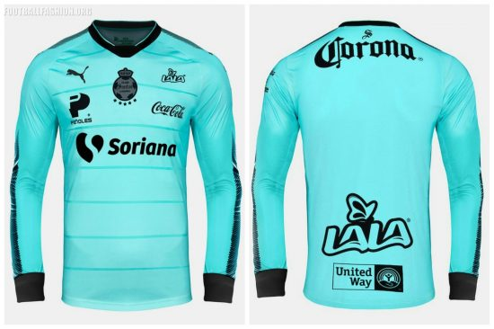 Santos Laguna 2017 2018 PUMA Third Soccer Jersey, Football Kit, Shirt, Camiseta de Futbol, Equipacion Tercera