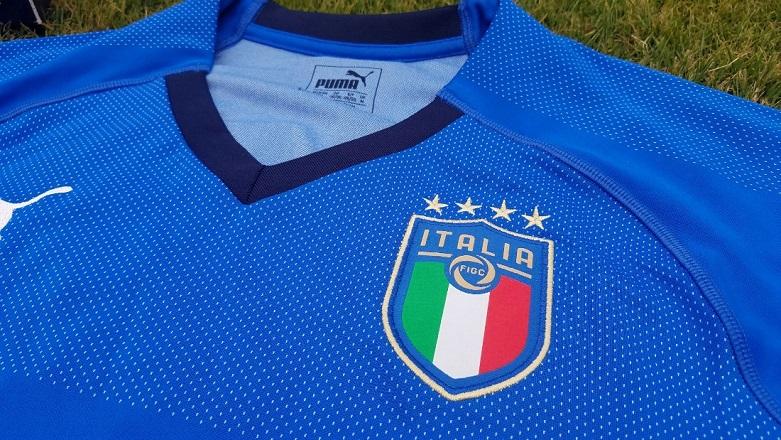 9c0e13804 Italy 2018 PUMA Blue Home Football Kit, Shirt, Soccer Jersey, Italia,  Camiseta