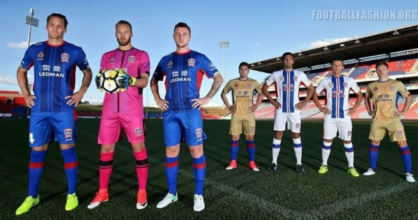Newcastle Jets FC 2017 2018 Viva Football Kit, Soccer Jersey, Shirt