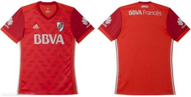 River Plate 2017 2018 adidas Red Away Football Kit, Soccer Jersey, Shirt, Camiseta Roja, Equipacion, Playera