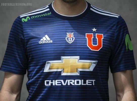 Club Universidad de Chile 2018 adidas Home Football Kit, Soccer Jersey, Shirt, Camiseta de Futbol