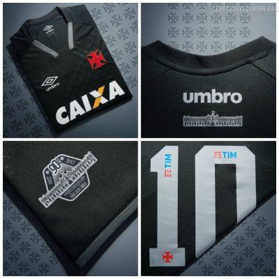 CR Vasco da Gama 2017 2018 Umbro Third Football Kit, Soccer Jersey, Shirt, Camisa III