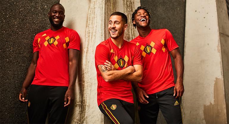fa8540057 Belgium 2018 World Cup adidas Home Kit - FOOTBALL FASHION.ORG