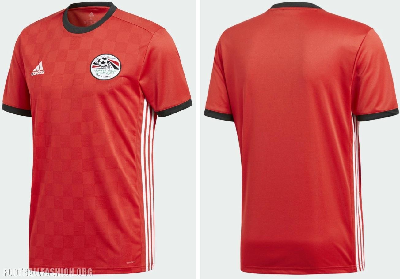 san francisco 717fa a2989 Egypt 2018 World Cup adidas Home Kit - FOOTBALL FASHION.ORG