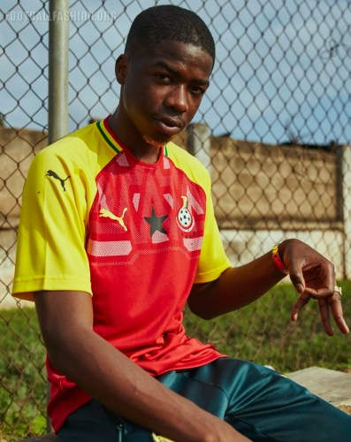 Ghana 2018 2019 PUMA Home Football Kit, Soccer Jersey, Shirt