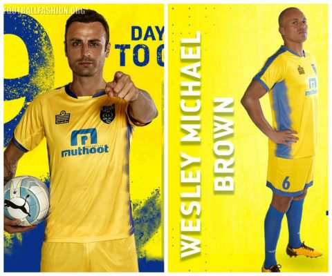 Kerala Blasters 2017 2018 Admiral Home Football Kit, Soccer Jersey, Shirt