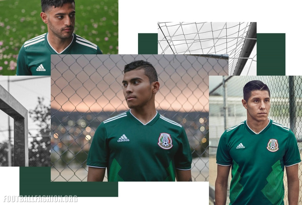 2f6c770e448 ... Mexico 2018 FIFA World Cup home jersey. The new kit will see its debut  when El Tri meets fellow World Cup qualifiers Belgium and Poland in  international ...