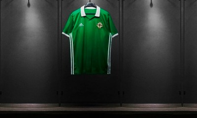 Northern Ireland 2018 adidas Home Football Kit, Soccer Jersey, Shirt