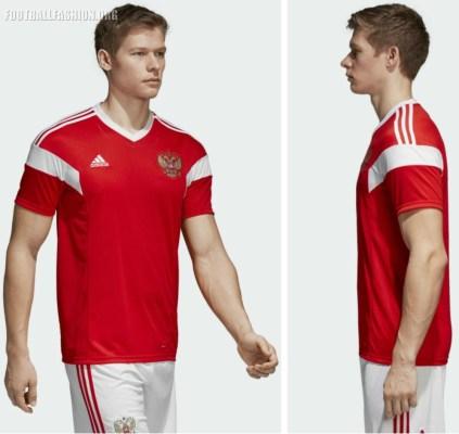 Russia 2018 World Cup adidas Home Football Kit, Soccer Jersey, Shirt, ДОМАШНЯЯ ИГРОВАЯ ФУТБОЛКА СБОРНОЙ РОССИИ
