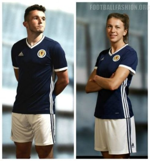 Scotland 2018 2019 adidas Home and Away Football Kit, Soccer Jersey, Shirt