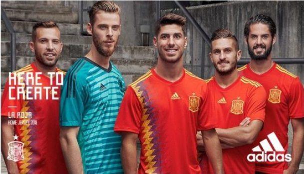 04b954ae1 Spain 2018 World Cup adidas Home Football Kit