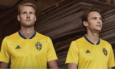 Sweden 2018 2019 Blue adidas Home Football Kit, Soccer Jersey, Shirt, Sverige SvFF matchtröja