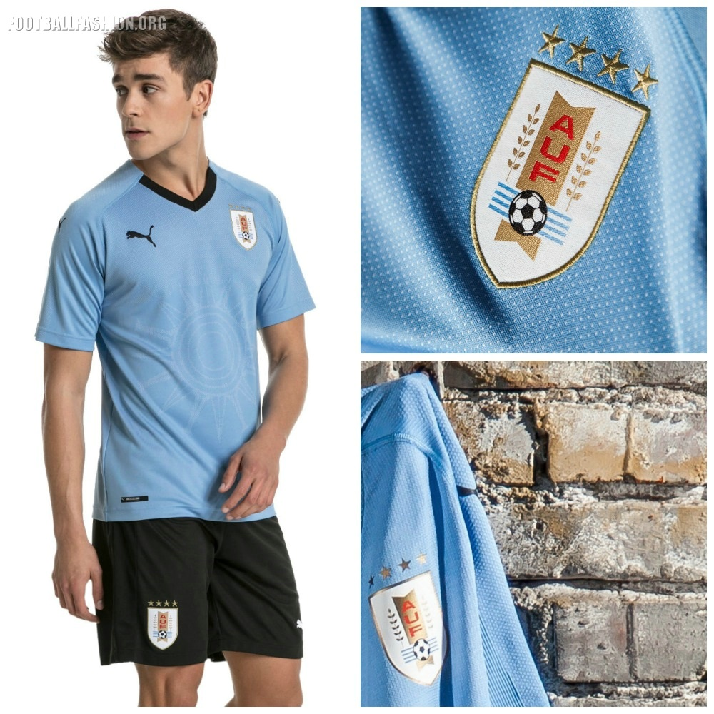 e760e1447 Uruguay 2018 World Cup PUMA Home Kit - FOOTBALL FASHION.ORG