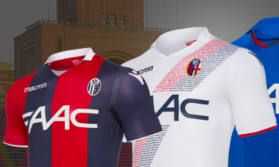 Bologna 2017 2018 Macron Home, Away and Third Football Kit, Soccer Jersey, Shirt, Gara, Maglia