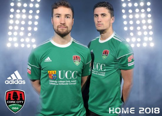 Cork City FC 2018 adidas Home Football Kit, Soccer Jersey, Shirt