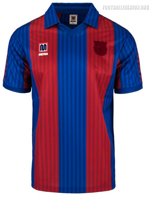 reissue fc barcelona 1991 92 meyba home kit football fashion fc barcelona 1991 92 meyba home kit